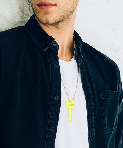 BRIGHT Yellow Classic Ball Chain Key Necklace Necklaces The Giving Keys | Lifestyle
