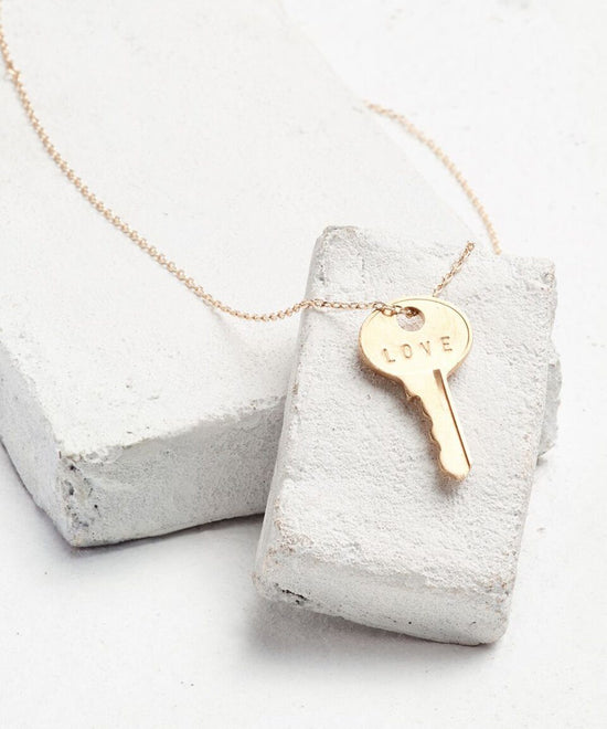 Sorority Dainty Key Necklace