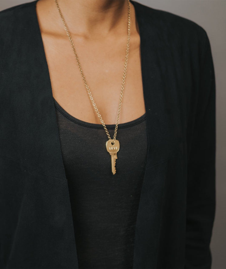 Silver Classic Key Necklace Necklaces The Giving Keys | Lifestyle