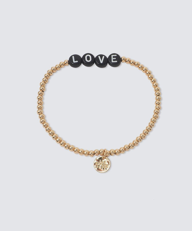 LOVE Beaded Bracelet Bracelets The Giving Keys GOLD