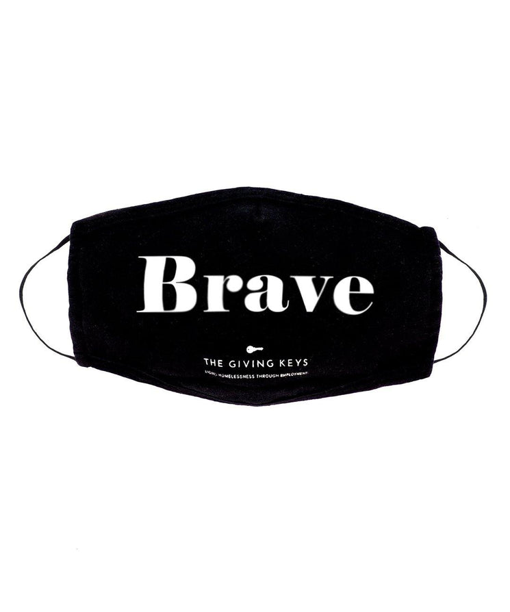 Individual Face Mask in BRAVE Face Mask The Giving Keys BLACK BRAVE