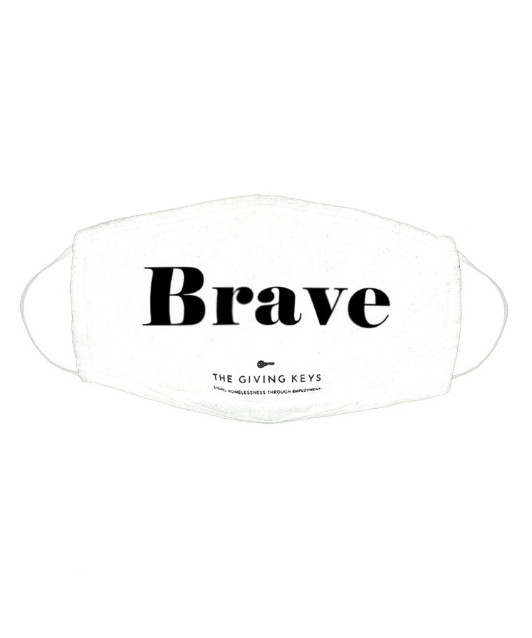 Individual Face Mask in BRAVE Face Mask The Giving Keys WHITE BRAVE