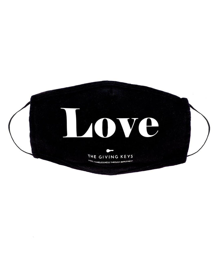 Individual Face Mask in LOVE Face Mask The Giving Keys BLACK LOVE