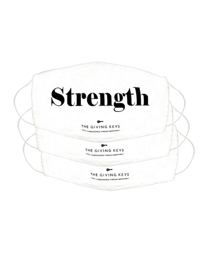 Essential Face Mask in STRENGTH (3-Pack) Face Mask The Giving Keys