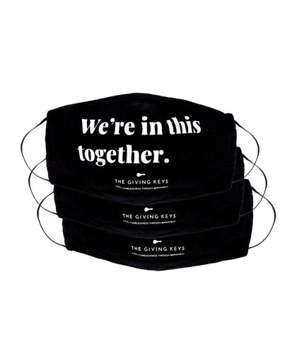 WE'RE IN THIS TOGETHER Essential Face Mask (3-Pack) Face Mask The Giving Keys