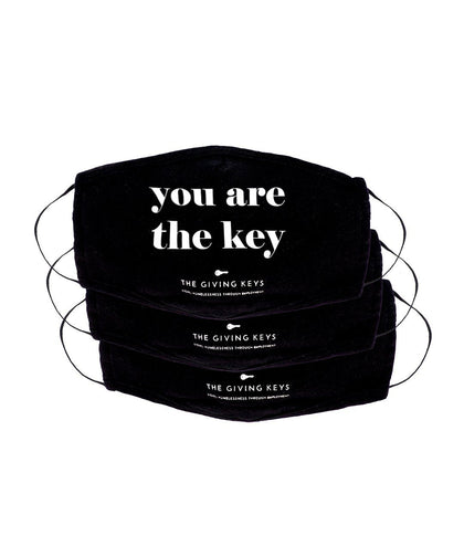 Essential Face Mask in YOU ARE THE KEY (3-Pack) Face Mask The Giving Keys BLACK YOU ARE THE KEY