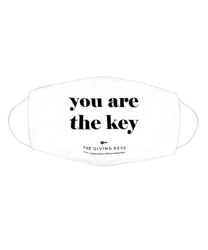 Individual Face Mask in YOU ARE THE KEY Face Mask The Giving Keys WHITE YOU ARE THE KEY
