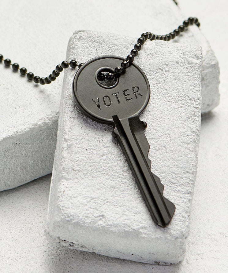 VOTE Matte Black Key Necklace Necklaces The Giving Keys VOTER