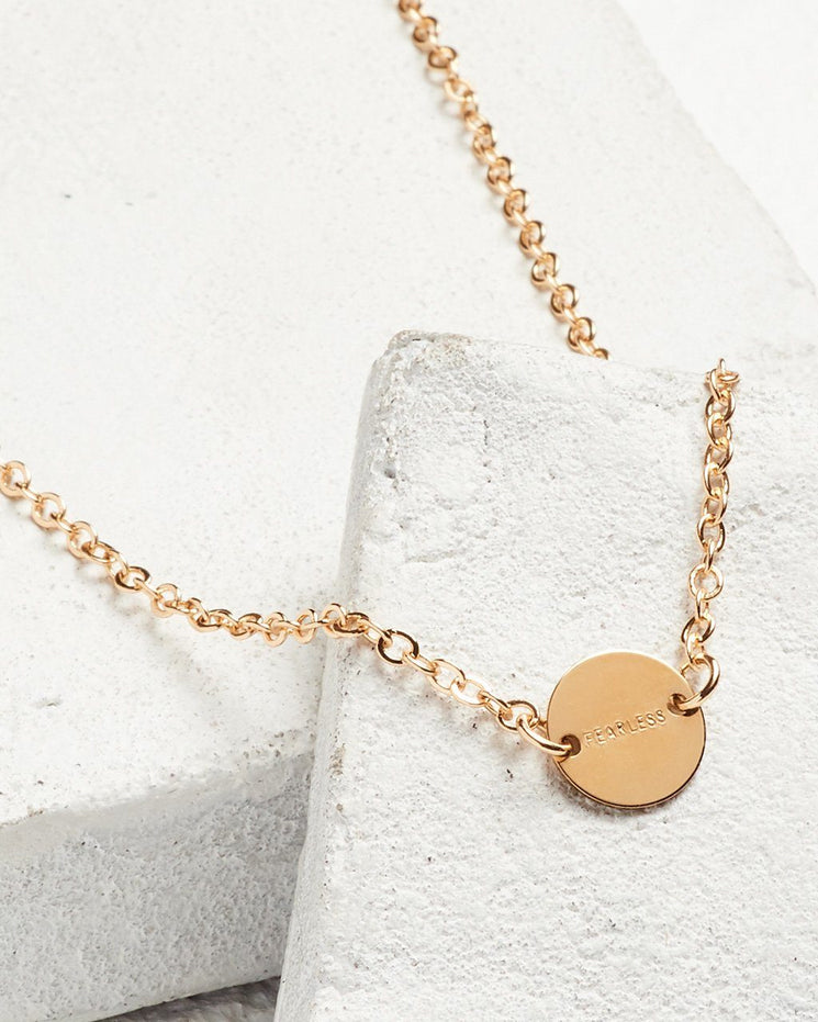 Never Ending Disc Necklace Necklaces The Giving Keys FEARLESS Gold