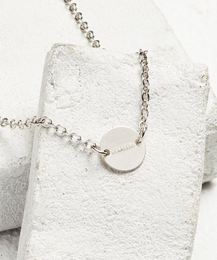 Never Ending Disc Necklace Necklaces The Giving Keys FEARLESS Silver