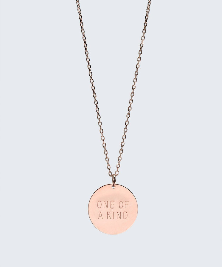 Love Your Flawz Disc Necklace Necklaces The Giving Keys ONE OF A KIND ROSE GOLD