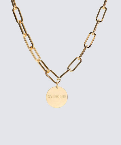 OVERCOME Capri Disc Necklace Necklaces The Giving Keys GOLD