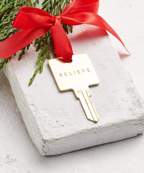 Gold Holiday Original Key Ornament