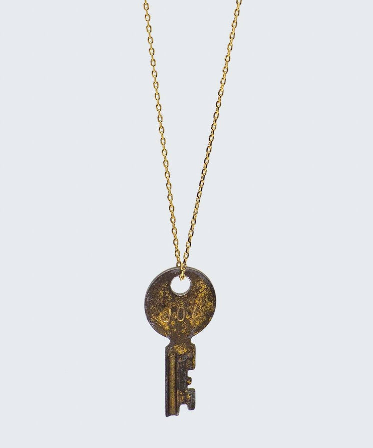 Vintage Dainty Key Necklace Necklaces The Giving Keys CUSTOM Gold