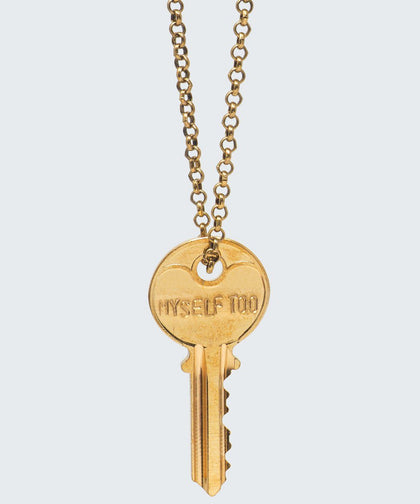 ENNEAGRAM Classic Key Necklace Necklaces The Giving Keys MYSELF TOO Antique Gold