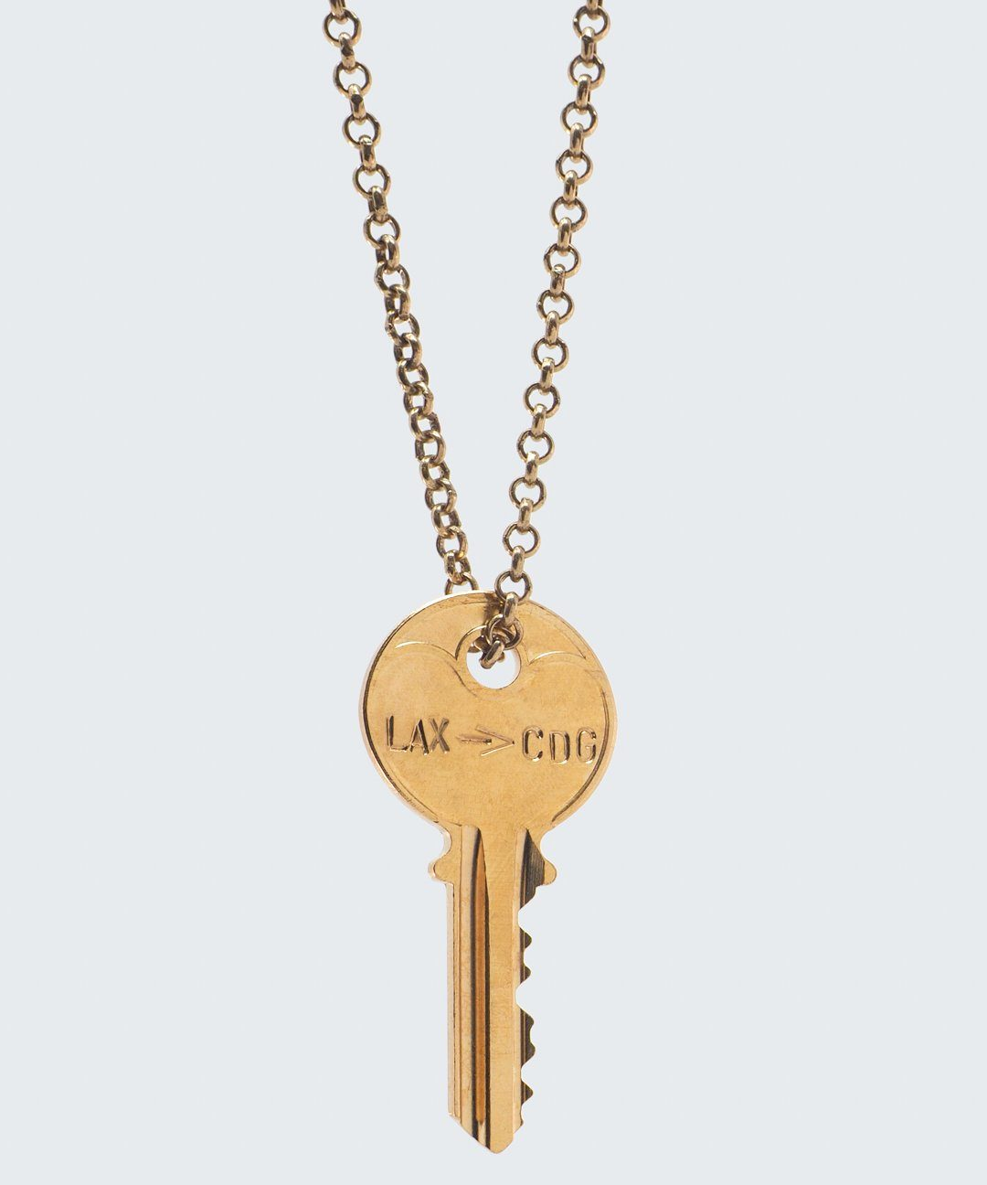 Travel Classic Key Necklace Necklaces The Giving Keys CUSTOM Gold