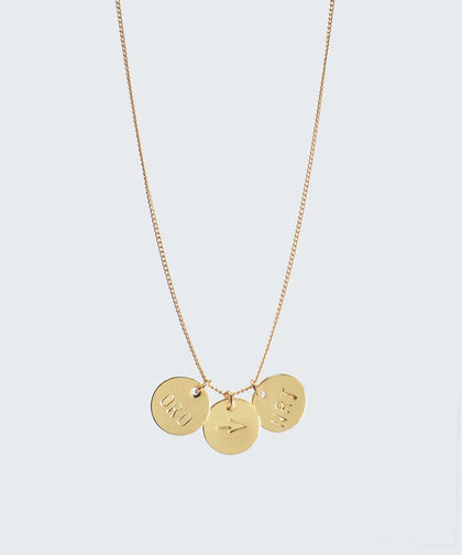 Travel Disc Pendant Necklace Necklaces The Giving Keys CUSTOM Gold
