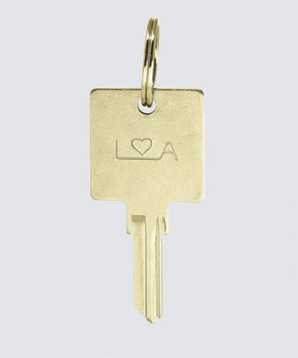 LA Originals Keychain Key Chain The Giving Keys HEART Gold