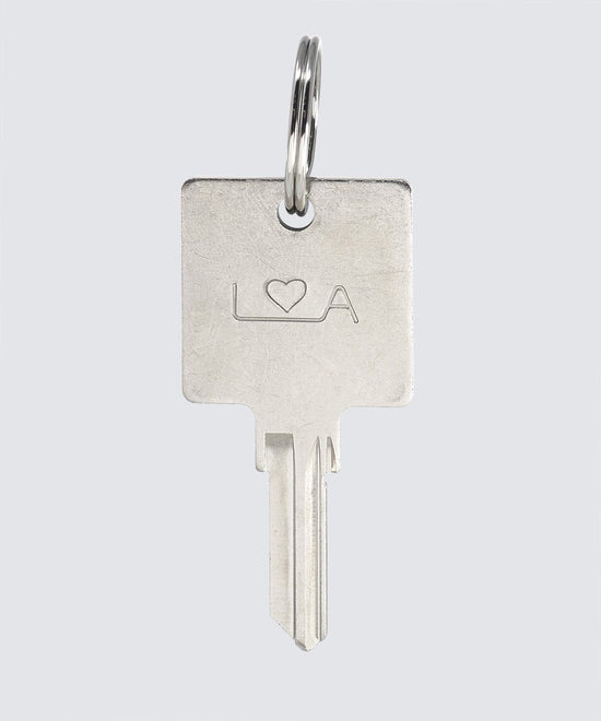 LA Originals Keychain Key Chain The Giving Keys HEART Silver