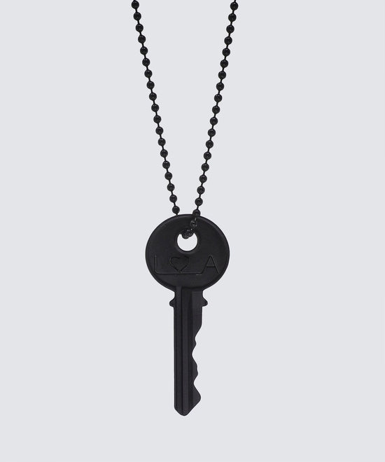 LA Originals Matte Black Key Necklace Necklaces The Giving Keys HEART Matte Black