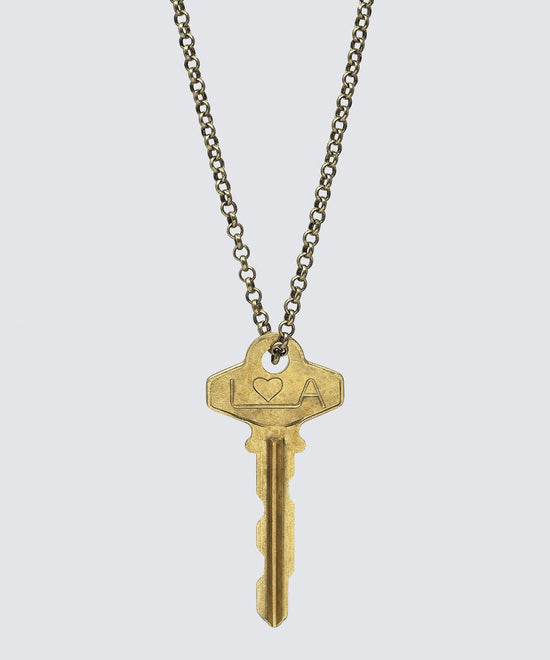 LA Originals Classic LongKey Necklace Necklaces The Giving Keys HEART Gold