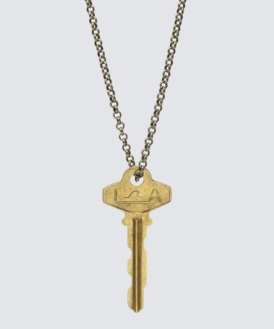 LA Originals Classic LongKey Necklace Necklaces The Giving Keys WAVE Gold
