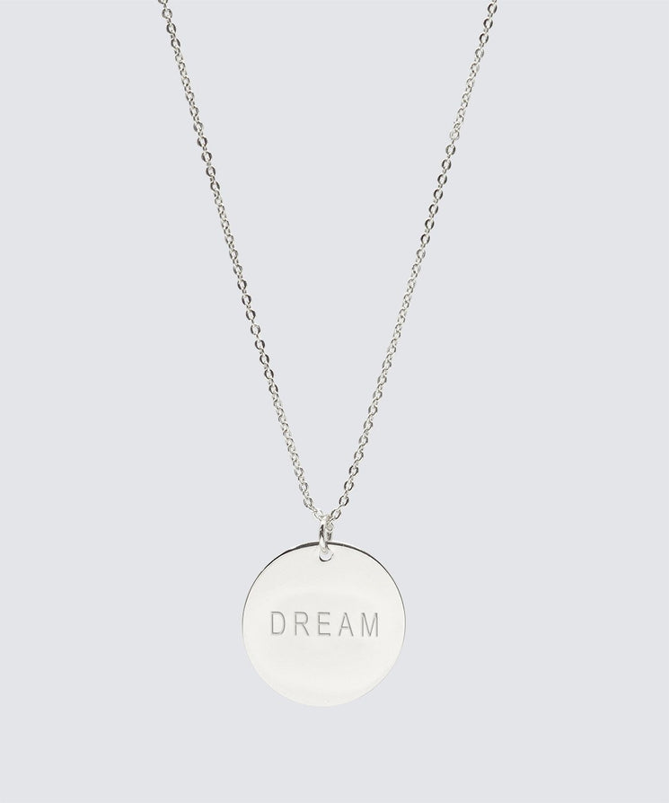 Large Disc Necklace Necklaces The Giving Keys DREAM Silver