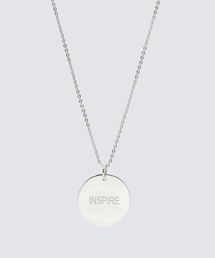 Large Disc Necklace Necklaces The Giving Keys INSPIRE Silver