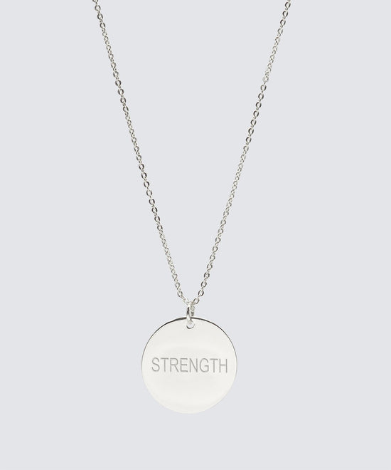 Large Disc Necklace Necklaces The Giving Keys STRENGTH Silver