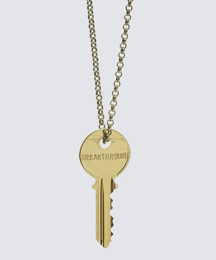 SCRIPTURE Classic Key Necklace Necklaces The Giving Keys BREAKTHROUGH Antique Gold