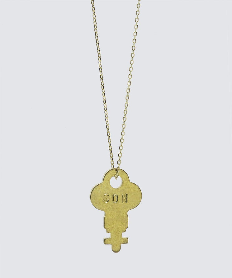 FAITH Collection Dainty Key Necklace Necklaces The Giving Keys SON Gold