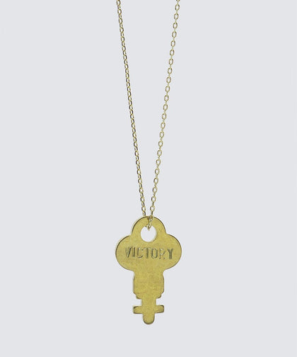 FAITH Collection Dainty Key Necklace Necklaces The Giving Keys VICTORY Gold
