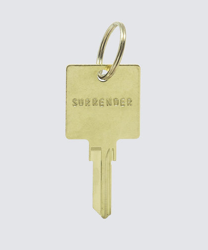 SCRIPTURE Hotel Keychain Key Chain The Giving Keys SURRENDER GOLD