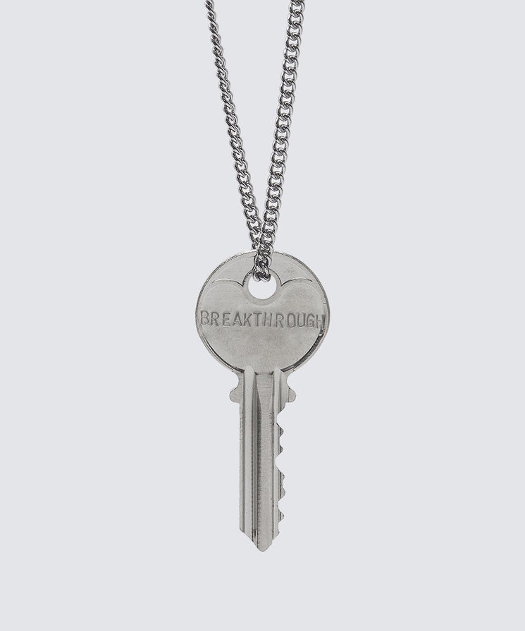 SCRIPTURE Classic Key Necklace Necklaces The Giving Keys BREAKTHROUGH Silver