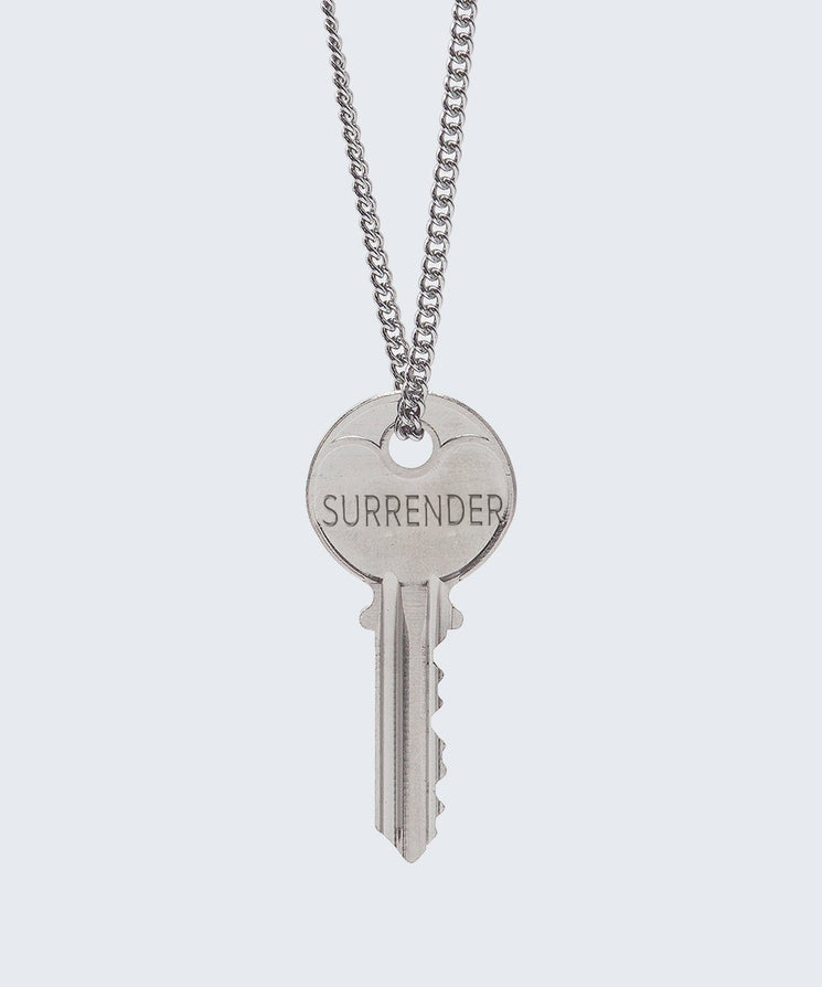 FAITH Collection Classic Key Necklace Necklaces The Giving Keys SURRENDER Silver