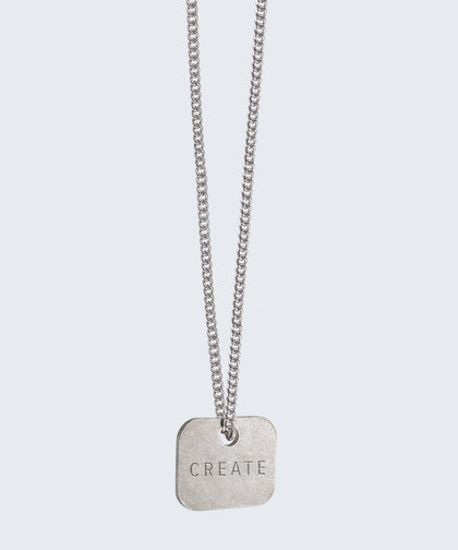Square Pendant Extra Long Necklace Necklaces The Giving Keys CREATE Silver