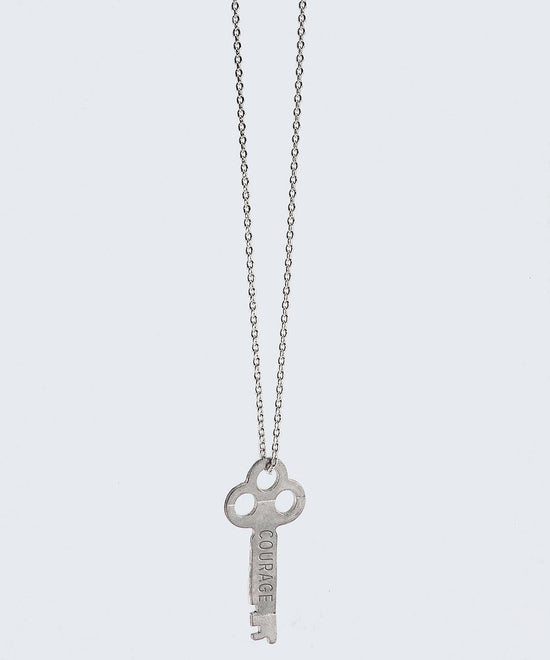 Ornate Key Extra Long Necklace Necklaces The Giving Keys COURAGE Silver