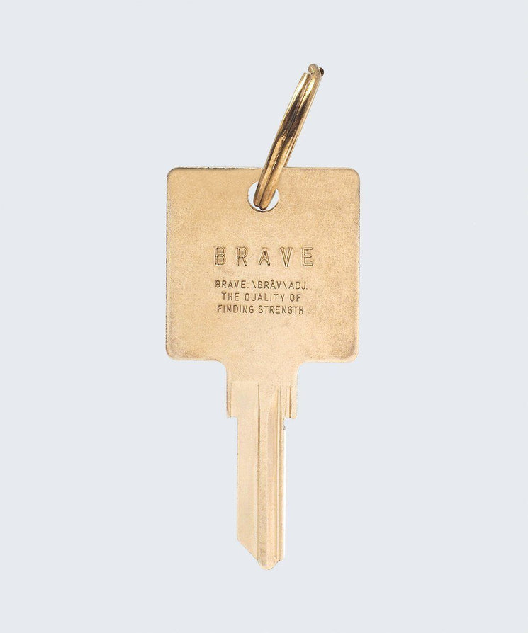 BRAVE Definition Keychain Key Chain The Giving Keys BRAVE GOLD