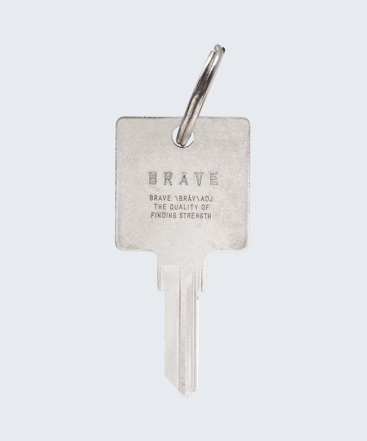 BRAVE Definition Keychain Key Chain The Giving Keys BRAVE SILVER