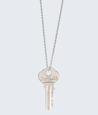 EMPOWER Dainty Key Necklace in Silver Necklaces The Giving Keys EMPOWER SILVER