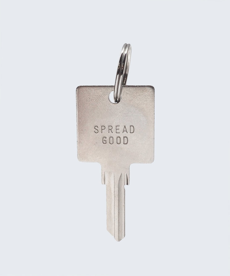 Spread Good Keychain Key Chain The Giving Keys SPREAD GOOD SILVER