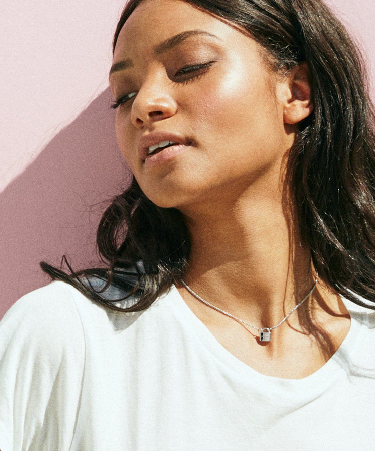 PURPOSE- Mini Padlock Necklace Necklaces The Giving Keys | Lifestyle