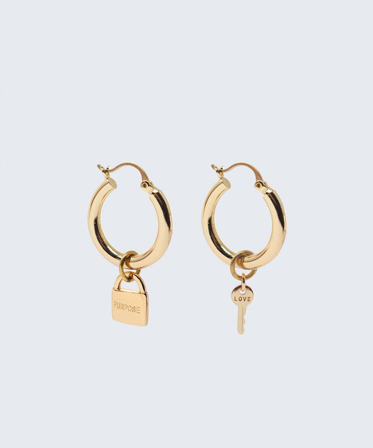 Riji Earrings Earrings The Giving Keys LOVE + PURPOSE Gold