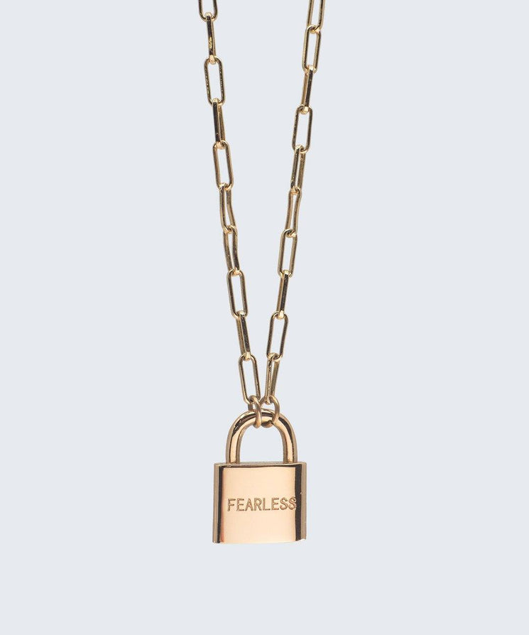 Brooklyn Padlock Necklace
