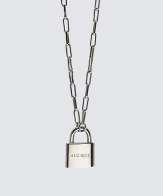 Brooklyn Padlock Necklace Necklaces The Giving Keys STRENGTH SILVER