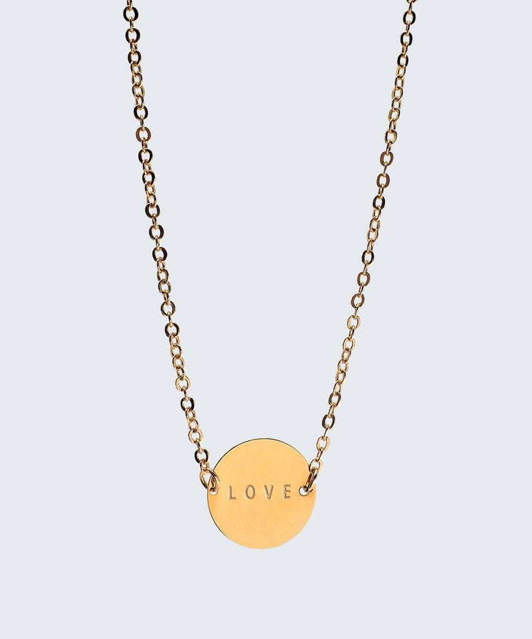 Never-Ending Large Disc Necklace Necklaces The Giving Keys LOVE Gold