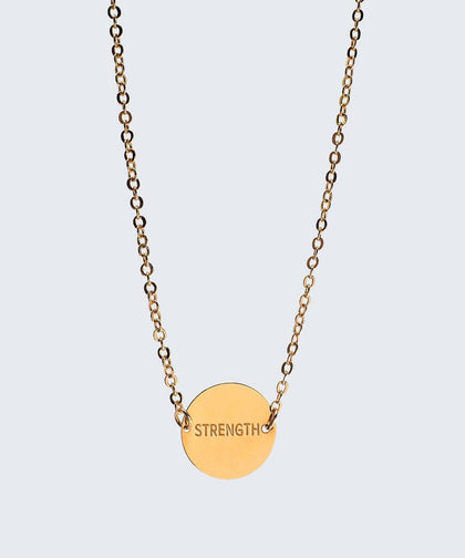 Never-Ending Large Disc Necklace Necklaces The Giving Keys STRENGTH Gold