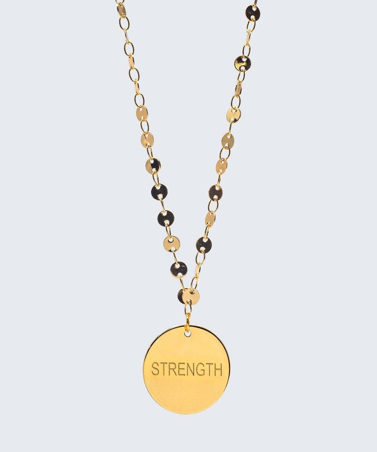 Barcelona Disc Necklace Necklaces The Giving Keys STRENGTH Gold