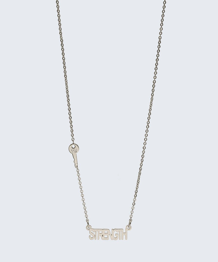 BE BOLD Necklace Necklaces The Giving Keys STRENGTH Silver