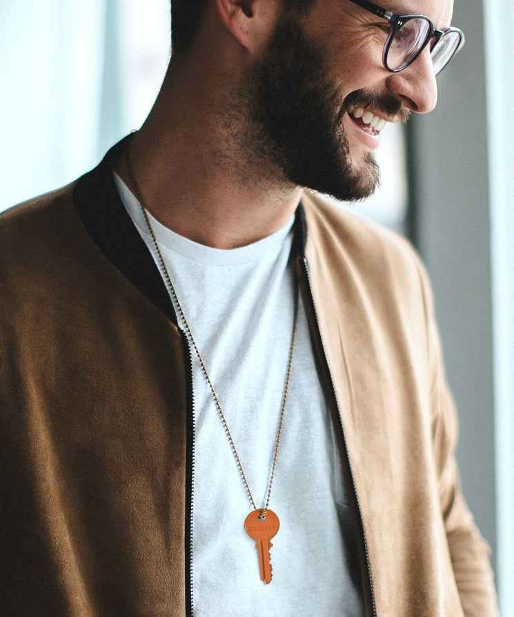 Pumpkin Spice Classic Ball Chain Necklace Necklaces The Giving Keys | Lifestyle